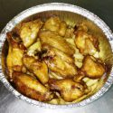 Alitas de Pollo Fritas con Patatas