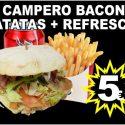 Campero Bacon + Patatas + Refresco