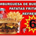 OFERTA Hamburguesa de Buey 200 gr. + Patatas + Refresco
