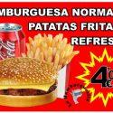 OFERTA Hamburguesa Normal + Patatas + Refresco