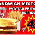 OFERTA Sandwich Mixto + Patatas + Refresco