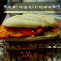 Baguette Filete Empanado, huevo duro y verduras