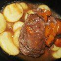 Carrillada en salsa de Ribera del Duero con patatas fritas
