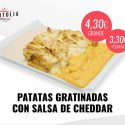 Patatas Gratinadas con salsa Cheddar