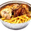 Pollo Asado con Patatas Fritas
