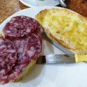 Tostada con Chorizo o Salchichón Ibérico de Bellota